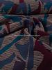 geometrisch bordeaux en blauw - geweven jacquard