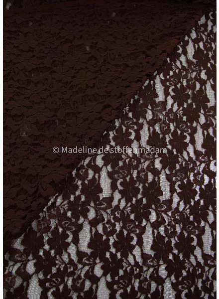 brown lace fabric