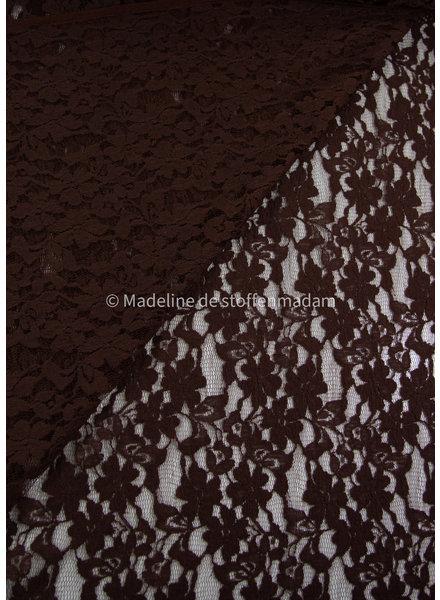 bruine kanten stof