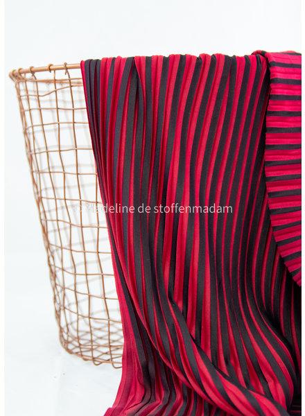 La Maison Victor rood zwart - plisse