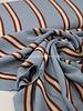 Swafing blue/ burgundy stripes - viscose
