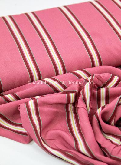Swafing roze /bordeaux strepen - viscose