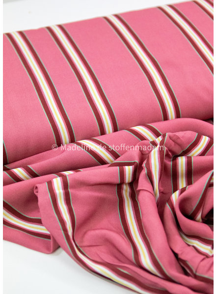 Swafing pink/burgundy stripes - viscose