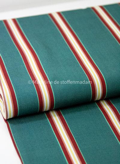 Swafing mint burgundy stripes - viscose