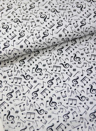 wit muzieknoten - katoentje