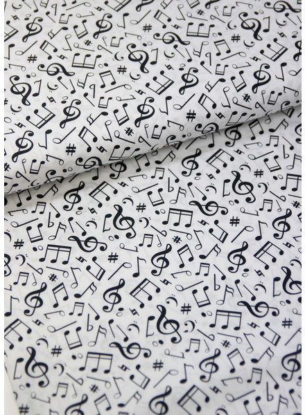 white musical notes - cotton