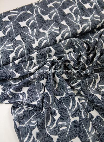 Swafing black leaves - viscose