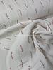 white stripes - tetra double gauze - gots label
