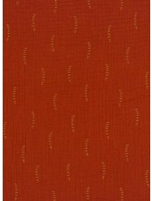 rust stripes - tetra double gauze - gots label