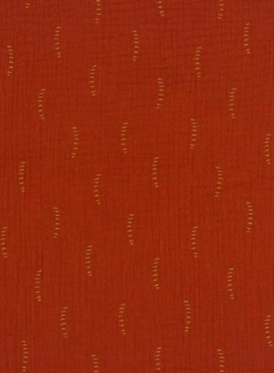rust stripes - tetra double gauze - gots label