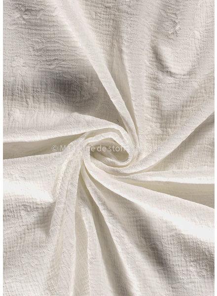 BIO off white flower garland - embroidered tetra