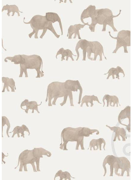 Family Fabrics Elephants - french terry