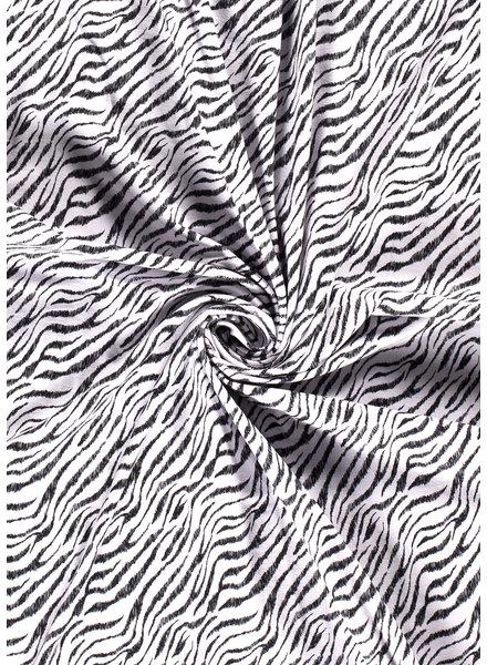 wit zebra - tricot