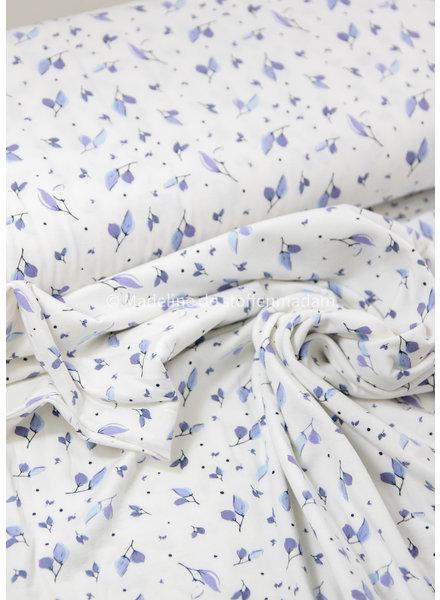 lila  kleine blaadjes - tricot