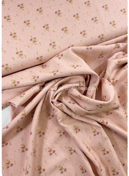 roze bloemetjes lurex - viscose