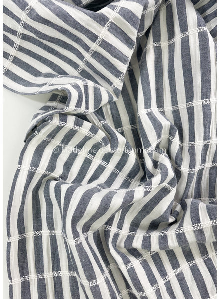 denim stripes - cotton embroided lines