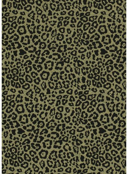 khaki melee luipaard - tricot