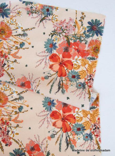 ART GALLERY FABRICS spirited - pale pink flowers - katoentje