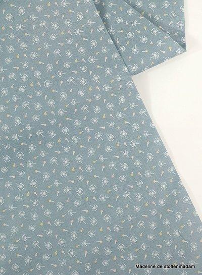 Poppy Cotton woodland songbirds dandelions mint  - katoen