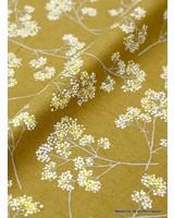 kokka oker  flower garden - linnen katoen mix