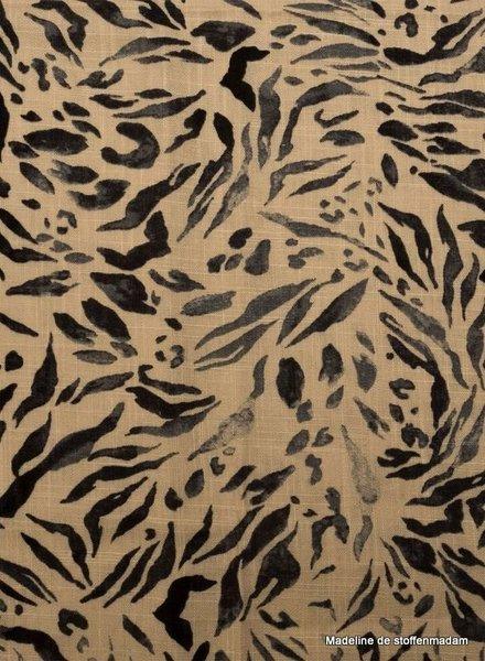 zebra -  linen viscose blend