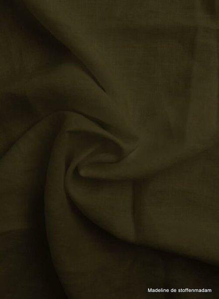 khaki - 100% linen