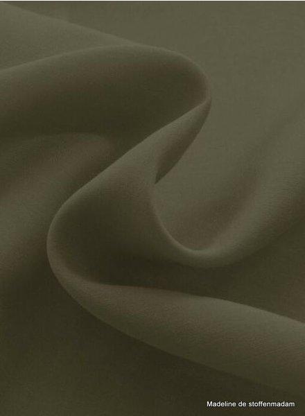 khaki - zijde katoen blend