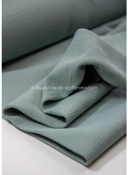 mint - luxueuze gewafelde tricot - stevige kwaliteit