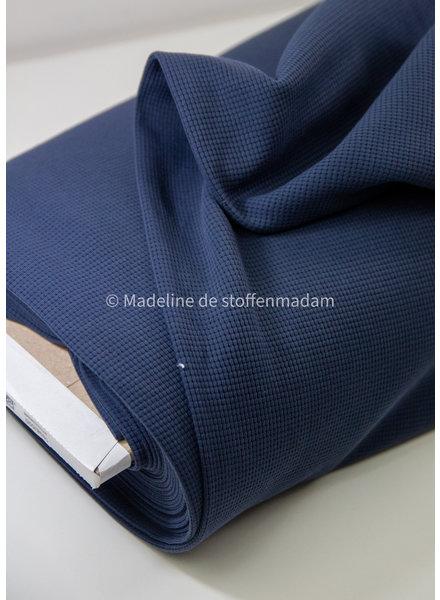 denim - luxueuze gewafelde tricot - stevige kwaliteit