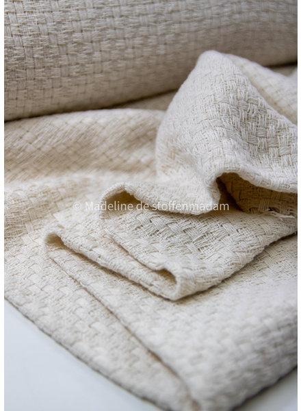 ecru  - soft woven jacquard