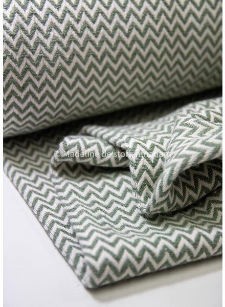 mint chevron - knitted jacquard