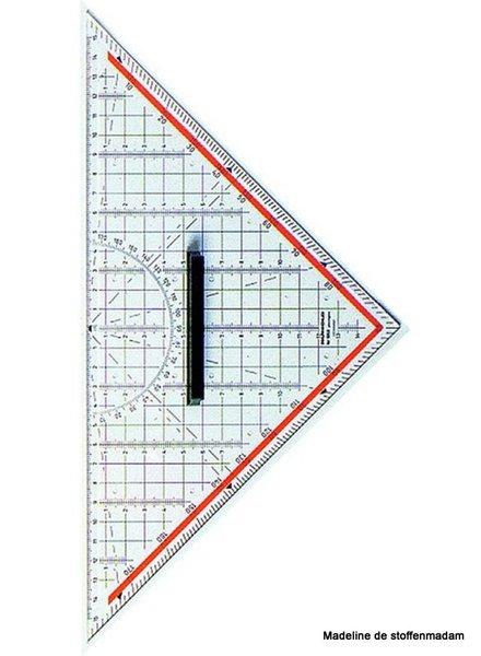 technische tekendriehoek - 325mm