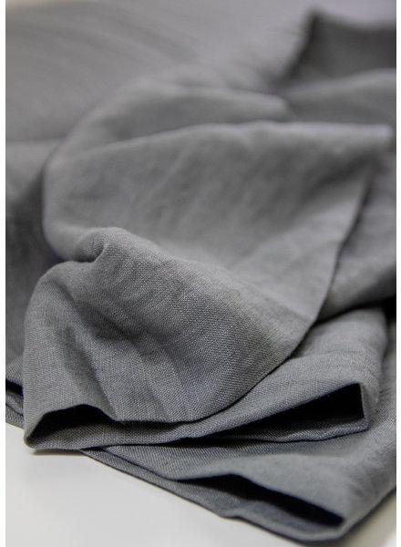 M grijs - soepelvallend 100% linnen