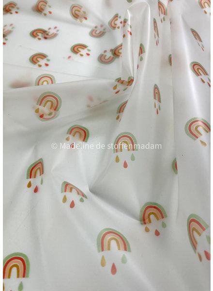 Rainbow drops - rain coat fabric
