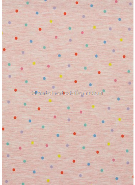 pink multicolor dots -  jersey