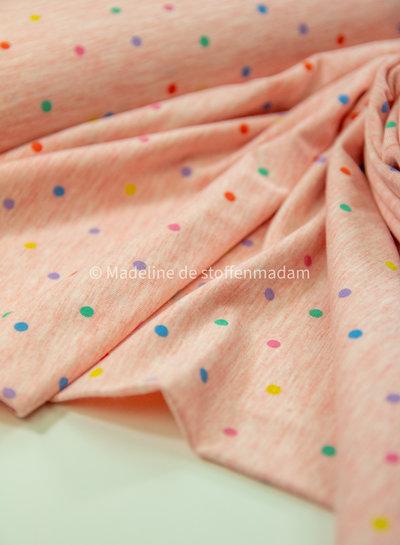 roze multicolor bolletjes - tricot