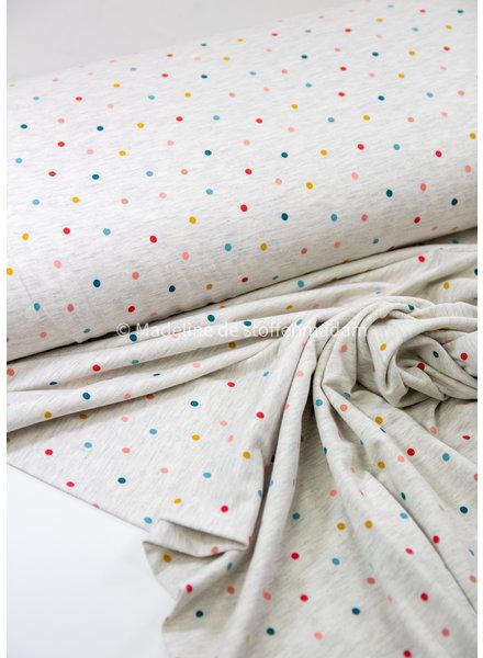 ecru multicolor bolletjes - tricot
