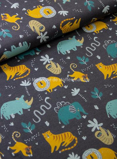 indigo wild animals - tricot