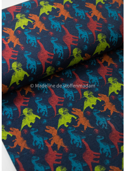 donkerblauw jurrasic world - tricot