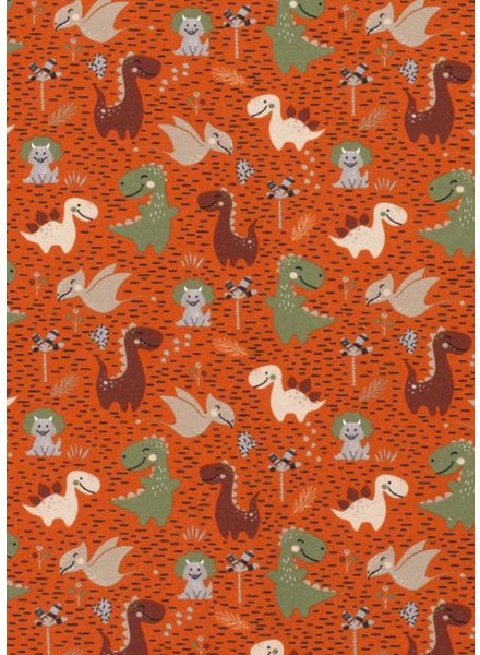 oranje baby dino - tricot