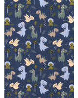 blauw baby dino - tricot