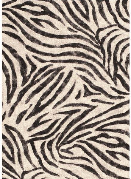 zebra - katoen met linnen look
