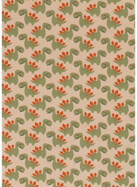 kleine dino's groen - tricot