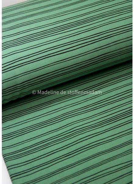 groen strepen - soft sweat - GOTS label