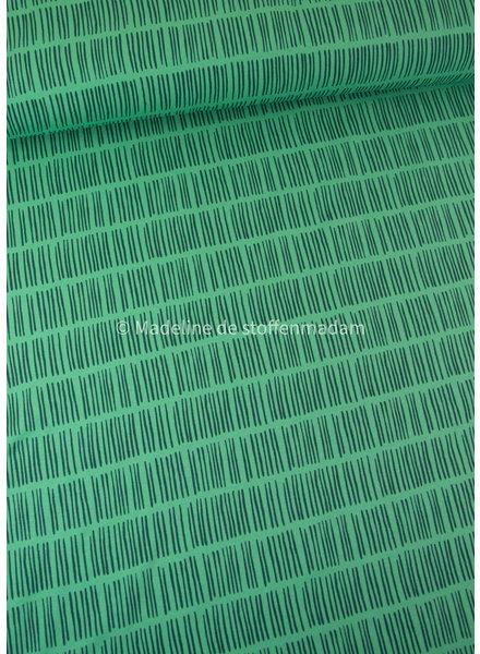 Swafing groen streepjes - tricot