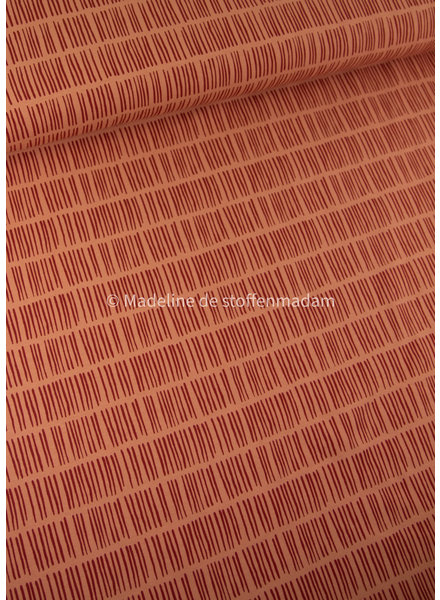 Swafing abricot stripes - jersey