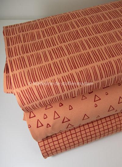 Swafing abrikoos driehoekjes - tricot