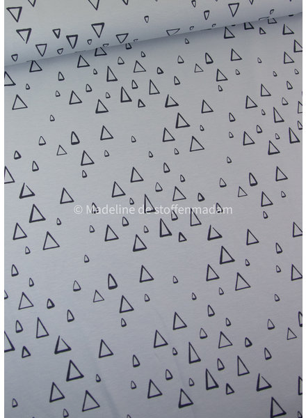 Swafing blauw driehoekjes - tricot