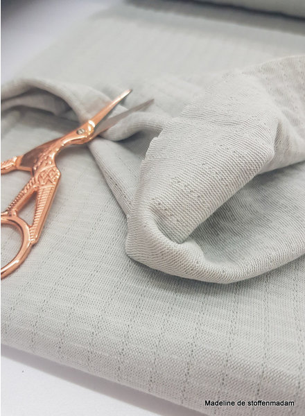 grey - double gauze stretch - baby cotton