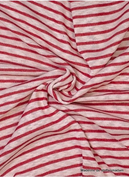 red stripes -  textured knit